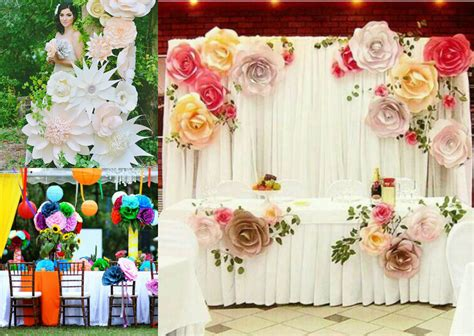 Wedding Reception Flowers Ideas by Colorful Paper Flowers Wedding Reception D 233 Cor Ideas