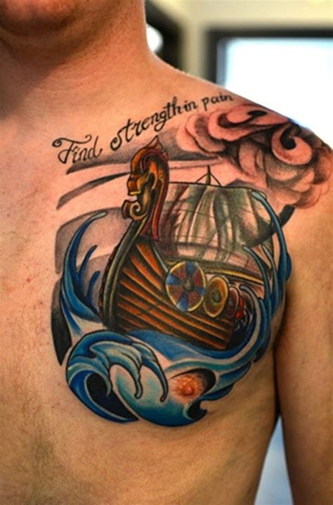 viking longship tattoo design 55 stylish viking shoulder tattoos