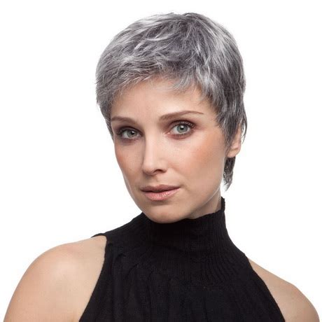 graue haare kurzhaarfrisuren