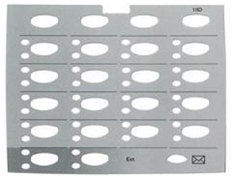 avaya replacement designation strips for partner 18d