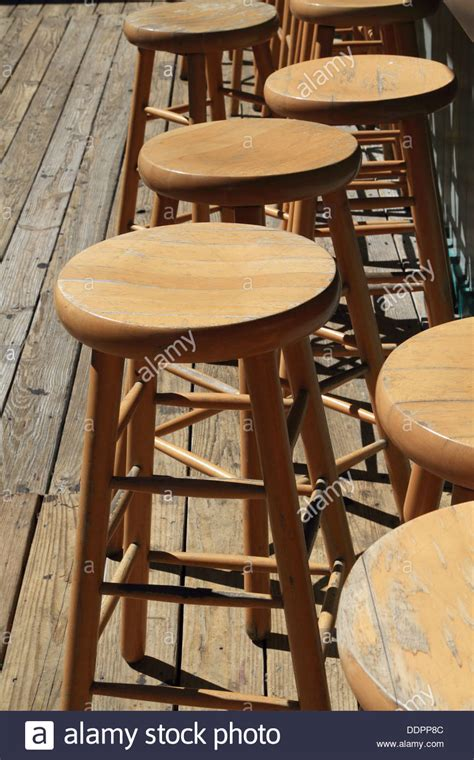 Bar Stools Nj by Empty Wooden Bar Stools At A Tiki Bar In Point Pleasant