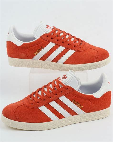 adidas gazelle trainers future harvest white originals shoes orange mens