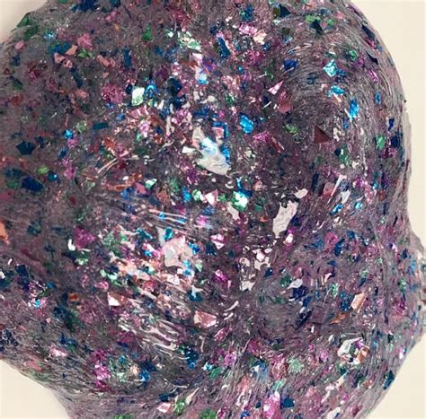 clear galaxy slime by e c s clear glitter galaxy slime glitter slime clear slime