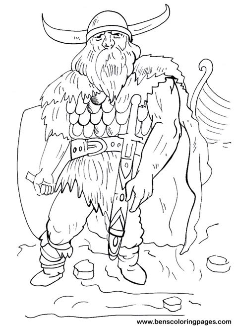 viking coloring pages viking warrior coloring page for