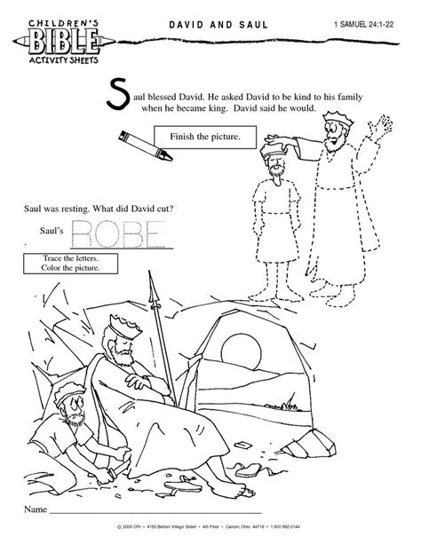 coloring pages for king saul saul hides in cave preschool show me more david saul