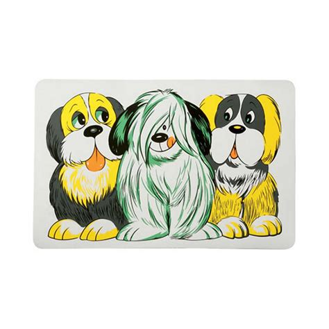 lazy bones dog bowl place mat