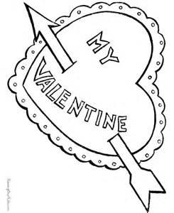 Happy valentine coloring page 006