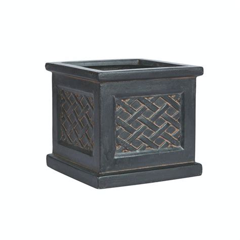 Square Planters Resin by Home Decorators Collection Quarterfoil 17 In H X 18 In