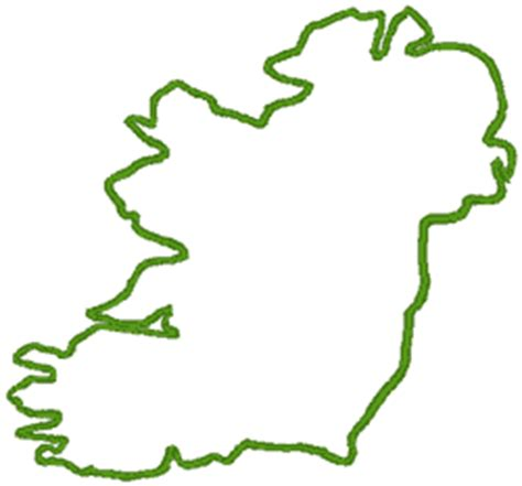 ireland outline embroidery design