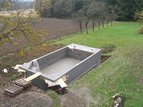 diy inground concrete pool examine closely and seal the inground pool from the outside