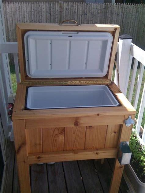 outdoor cooler for the summer deck ideas dump a day