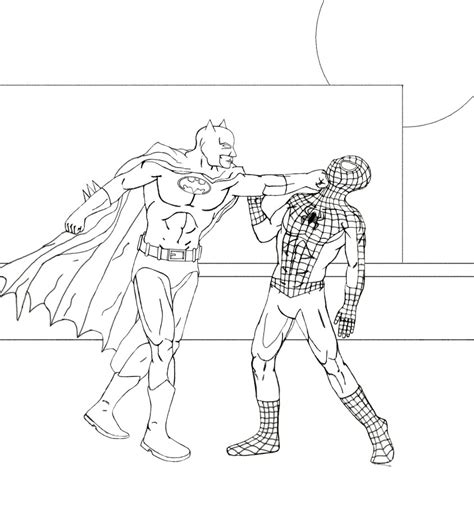 batman vs spider man wip worlds on paper