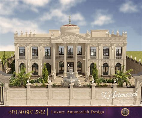 exterior design for palace royal palace from luxury antonovich design the line of mastery underlines the magnificent