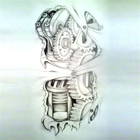 design tattoo biomechanical warna tattoo designs cool amazing biomechanical tattoo sketch