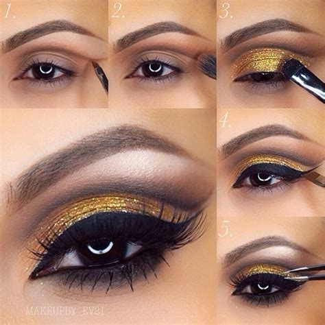 colors that look with gold 40 eye makeup looks for brown stayglam