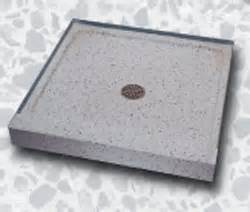 untitled terrazzo shower bases