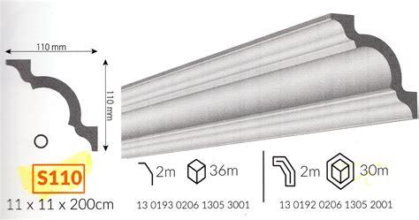 cornici da soffitto profilo cornice da soffitto s110 in polistirene