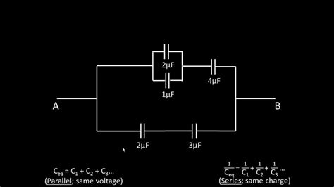 how to work out capacitors in series finding charge and voltage across a capacitor in circuit