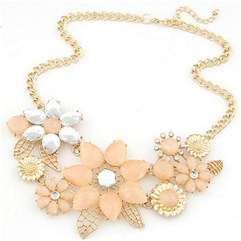 how to make flower jewelry fashion womens flower choker bib collar chain pendant