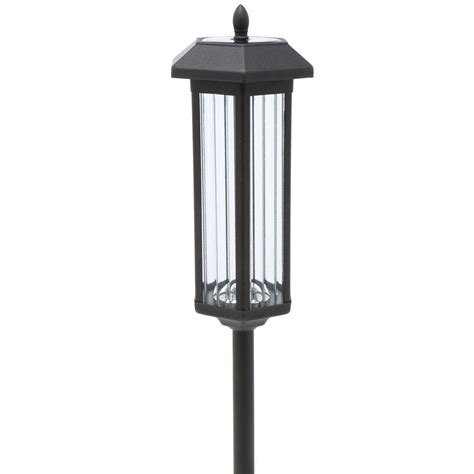 outdoor solar lights home depot trendscape 60 in solar garden black led path lights 2