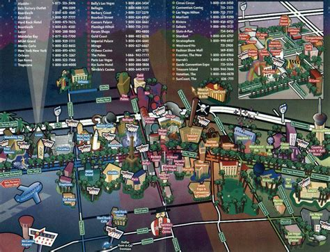 las vegas casino map las vegas map and downtown las vegas fremont casinos maps