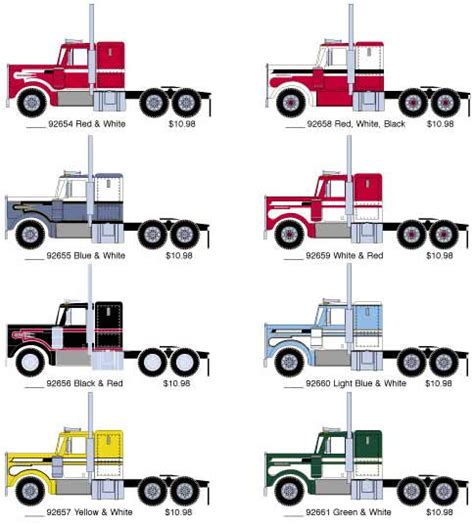 new athearn kenworth tractor paint schemes