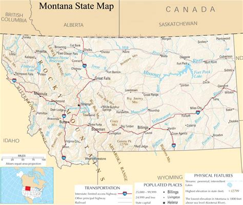 usa montana map map of montana montana maps mapsof net