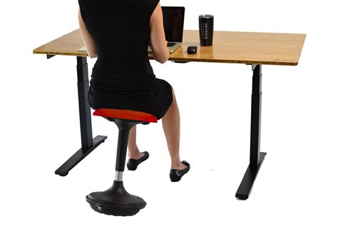uncaged ergonomics wobble stool adjustable chair black