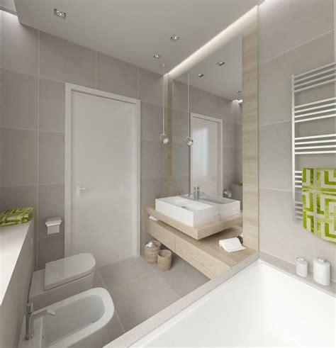 fliese wellenoptik popielata łazienka z wanną architektura wnętrza