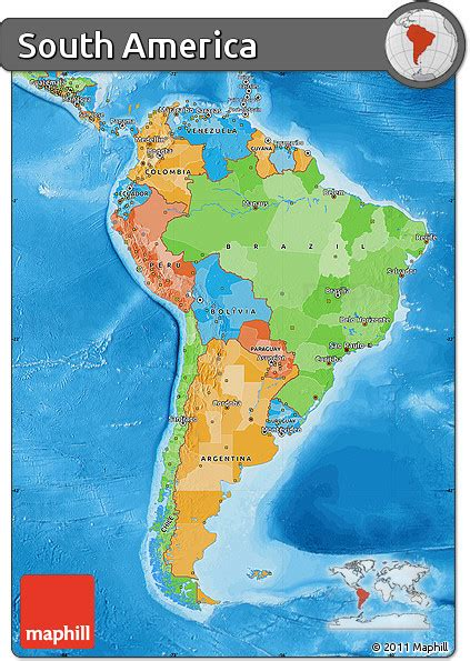 south america map free free political map of south america