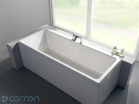 carron quantum double ended acrylic bath   mm