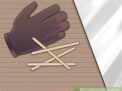 How To Make Paper Freddy Krueger Claws - how to make a freddy krueger glove 14 steps with pictures