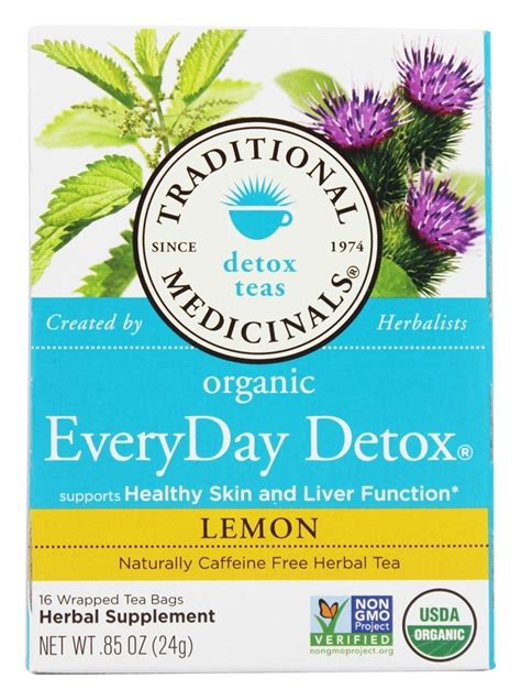 Everyday Detox Tea Lemon by Buy Traditional Medicinals Lemon Everyday Detox Tea 16