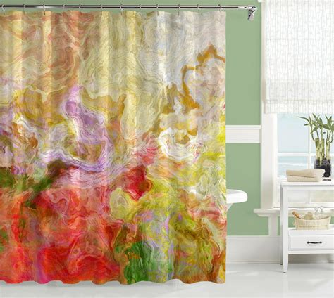 artist shower curtains contemporary shower curtain abstract art bathroom decor red
