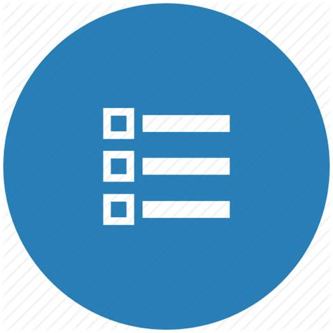 Blue List by Blue List Listing Order Icon Icon Search Engine