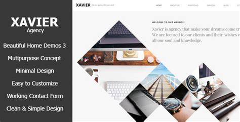 Themeforest Xavier | xavier portfolio and agency html theme by max themes
