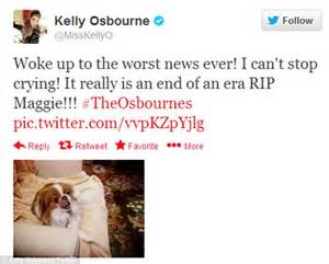 average age of dogs osbourne s maggie dies at age 16 daily mail