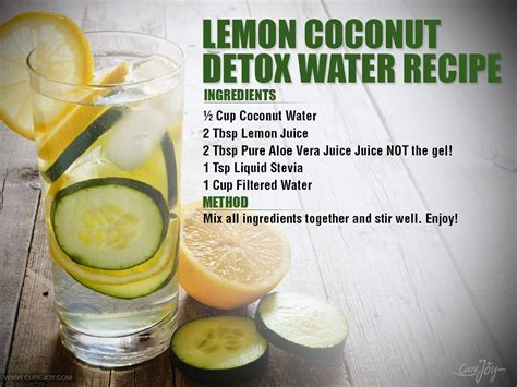Coconut Detox Ingredients bedtime drink for detoxification and burn lemon