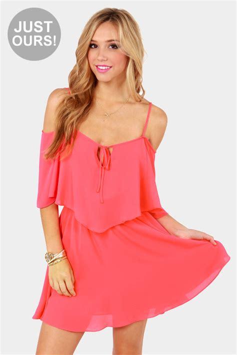 Pink Flow Dress Qif pink dress cutout dress 59 00