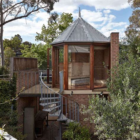 how to build a guest house in backyard the tardis a tiny tower house edwards moore architects