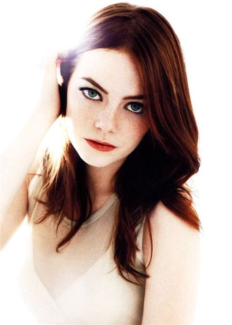 emma stone with black hair emma stone with dark red hair goin red pinterest