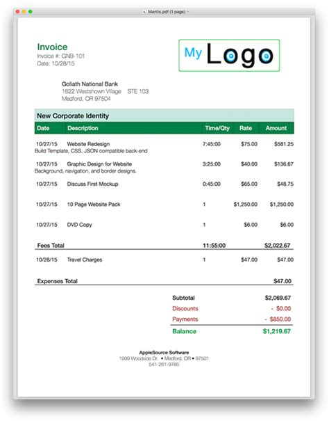 Html Templates For Invoices | invoice template html code invoice exle
