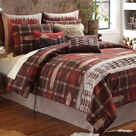 small comforter bedroom wagner rustic plaid comforter bedding with plaid