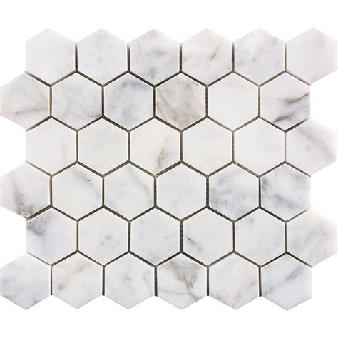 "CALACATTA GOLD MOSAICS POLISHED 2"" HEXAGON   Tirmar"