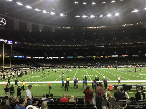 superdome sections superdome section 117 new orleans saints rateyourseats com