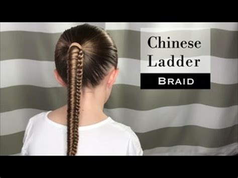 how to do ladder hairstyle step by step chinese ladder braid by holster brands youtube