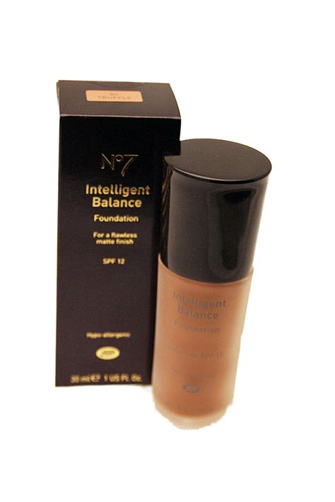 boots cosmetics boots no 7 intelligent balance foundation spf12 30ml