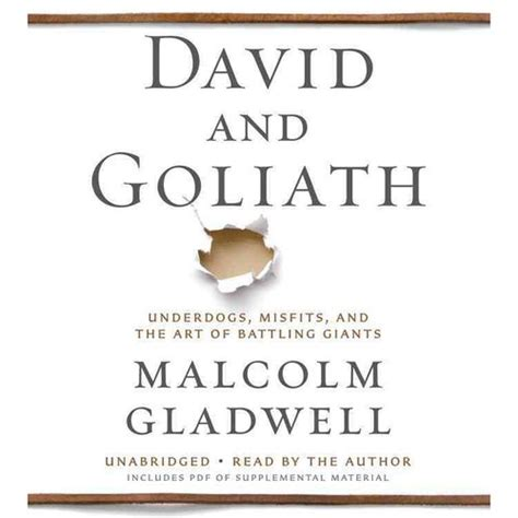 david and goliath underdogs david and goliath underdogs misfits and the art of battling giants walmart com
