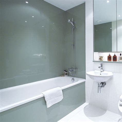 Glass Shower Panels For Bathrooms Install Sleek Glass Panels Bathroom Design Ideas Housetohome Co Uk