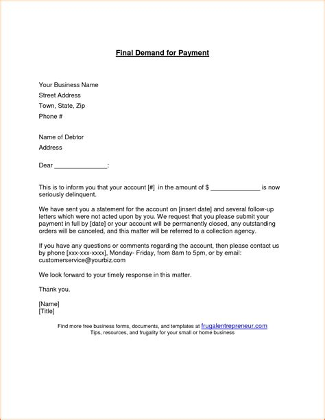 business letter format requesting payment business letter for payment the best letter sle